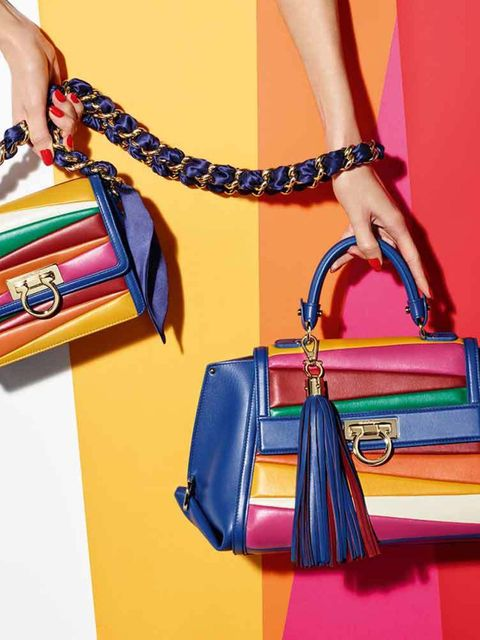 <p>Salvatore Ferragamo x Sara Battaglia </p>  <p>Accessories designer Sara Battaglia (and sister to street style star) has collaborated with Italian house Ferragamo to design a 25 piece collection for spring summer. Taking inspiration from the iconic Ferr
