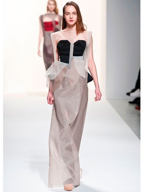"""<p><a href=""""http://www.elleuk.com/catwalk/designer-a-z/chalayan/autumn-winter-2014"""">Chalayan</a> a/w 2014</p><p>What avant-garde-loving bride wouldn't want a dress that looks like it's made of petals peeling away from the body?</p><p><a href=""""http://www.e"""