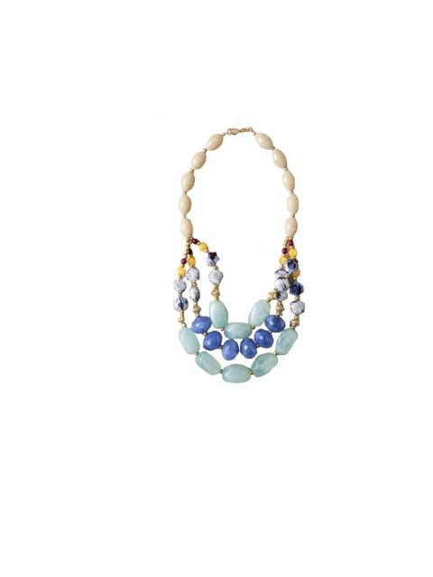 "<p><a href=""http://www.anthropologie.eu/en/uk/necklaces/blurred-blue-necklace/invt/7412437537414/&bklist=icat,5,shop,jwlacc,shopbyjwlacc,necklaces"">Anthropologie</a> necklace, £48</p>"