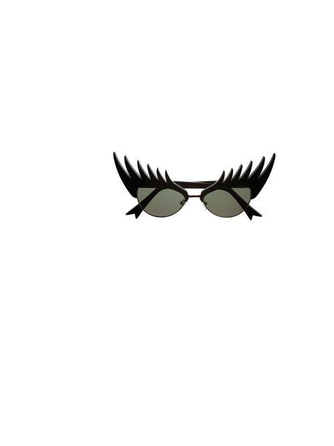 """<p><a href=""""https://www.tattydevine.com/eyelash-sunglasses.html"""">Tatty Devine</a> eyelash sunglasses, £126</p>"""