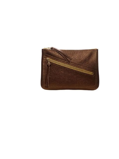 """<p><a href=""""http://www.mimiberry.co.uk/"""">Mimi Berry</a> 'Billy' metallic purse, £60</p>"""