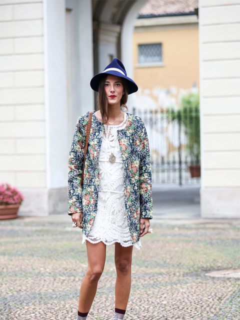 Martina wears Molly dress, vintage hat, jacket from her boutique Noftalinam with Converse trainers.