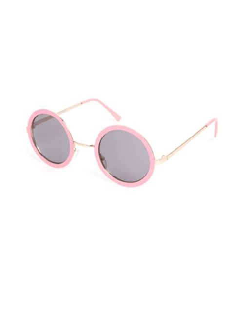 "<p><a href=""http://www.asos.com/ASOS/ASOS-Metal-Nose-Bridge-Set-Round-Sunglasses/Prod/pgeproduct.aspx?iid=3846495&cid=4545&Rf-200=9&sh=0&pge=0&pgesize=36&sort=-1&clr=Pink&totalstyles=7&gridsize=3"">Asos</a> pastel pink sunglasses, £15<br />  </p>"
