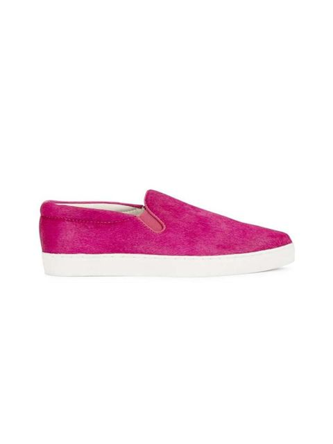 "<p>Add a splash of colour to your weekend wardrobe.</p>  <p> </p>  <p>Senso slip-ons, £155 at <a href=""http://www.harveynichols.com/100456-dylan-pink-calf-hair-skate-shoes/"" target=""_blank"">Harvey Nichols</a></p>"
