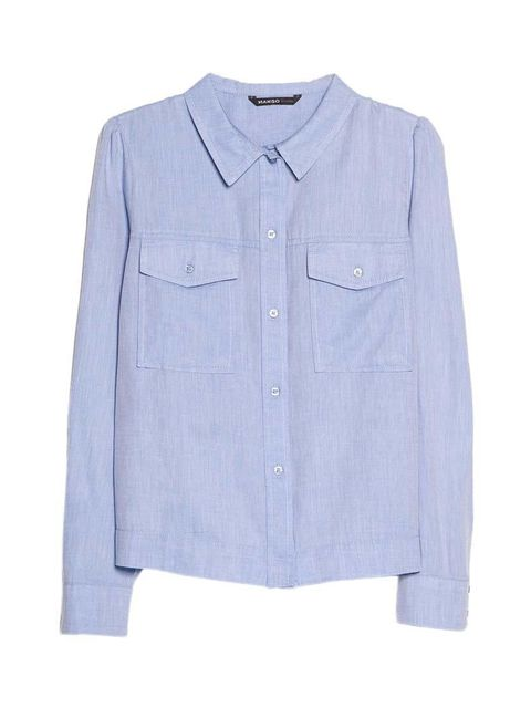 "<p>Wear with rolled-up chinos and a mannish watch.</p>  <p> </p>  <p><a href=""http://shop.mango.com/GB/p0/women/clothing/blouses-and-shirts/puffed-shoulder-shirt/?id=33045587_80&n=1&s=prendas.blusas&ident=0__0_1411055756670&ts=1411055756670"" target=""_blan"