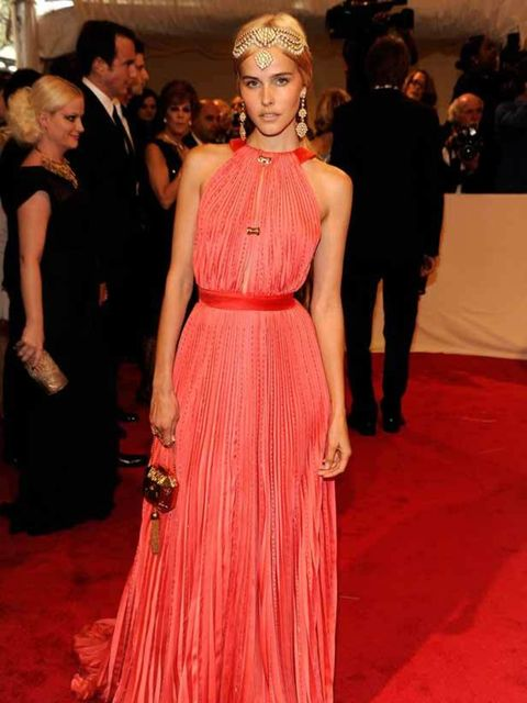 """<p>Isabel Lucas in <a href=""""http://www.elleuk.com/catwalk/collections/louis-vuitton/autumn-winter-2011/review"""">Louis Vuitton</a> at The Met Ball, 2 May 2011 in New York.</p>"""