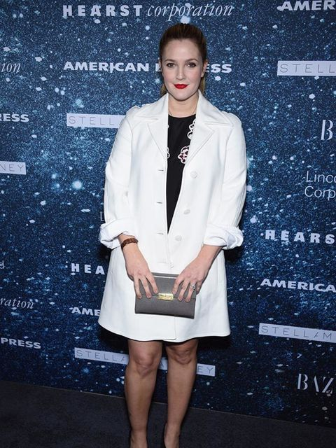 Drew Barrymore attends a fashion party in New York, November 2014