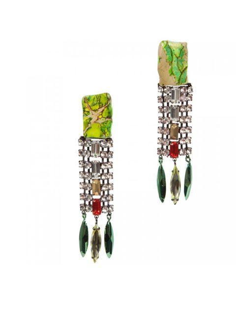 "<p>Iosselliani crystal drop earrings, £200, at <a href=""http://www.harveynichols.com/womens/categories-1/jewellery/earrings/s415581-jasper-and-crystal-drop-earrings.html?colour=MULTICOLOURED"">Harvey Nichols</a></p>"