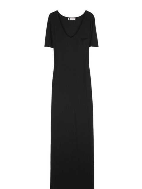 <p>Long jersey dress, £100, by T by Alexander Wang at Net-a-Porter </p>