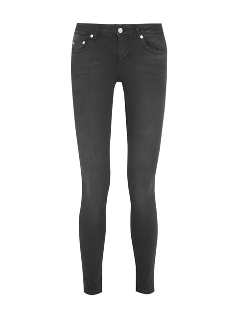 """<p><a href=""""http://www.net-a-porter.com/product/453978/BLK_DNM/26-low-rise-skinny-jeans"""" target=""""_blank"""">BLK DNM</a> jeans, £130</p>"""