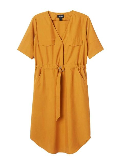 """<p>A utilitarian style in an unexpected bright, as worn by Acting Features Assistant Maybelle Morgan.</p><p><a href=""""http://www.monki.com/View_all_new/Belen_dress/8668818-9336804.1#c-49930"""" target=""""_blank"""">Monki</a> dress, £35</p>"""