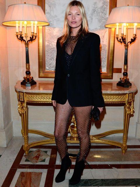 <p>Kate Moss wears Saint Laurent Autumn Winter 13. </p>