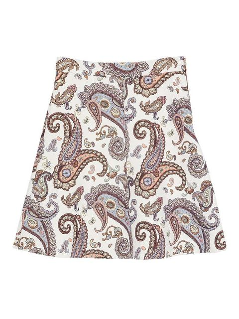 """<p>Wear with a cream roll-neck jumper and camel ankle boots.</p><p><a href=""""http://www.zara.com/uk/en/new-this-week/woman/a-line-paisley-skirt-c363008p2446552.html"""" target=""""_blank"""">Zara</a> skirt, £35.99</p>"""