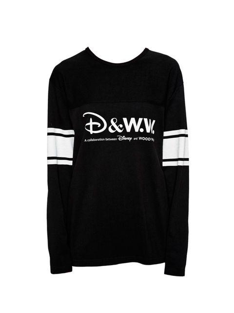 "<p>Wood Wood x Disney sweatshirt, £85 at <a href=""http://www.asos.com/Wood-Wood/Wood-Wood-x-Disney-Oversized-Dawson-Sweat-with-Arm-Stripes/Prod/pgeproduct.aspx?iid=4715465&cid=11321&Rf989=5047&sh=0&pge=0&pgesize=-1&sort=-1&clr=Black&totalstyles=85&gridsiz"