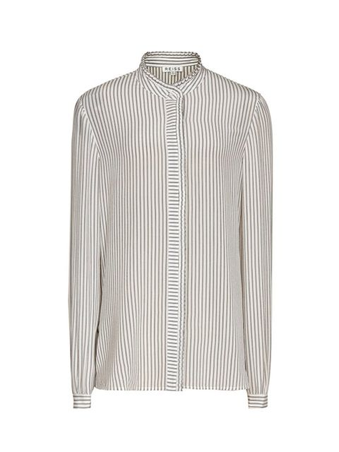 """<p><a href=""""http://www.reiss.com/womens/tops/maggie/blue-stripe/"""" target=""""_blank"""">Reiss shirt</a>, £135</p>"""