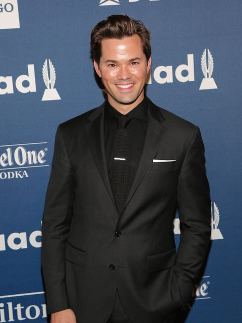 Girls star Andrew Rannells looking very dapper in all black.