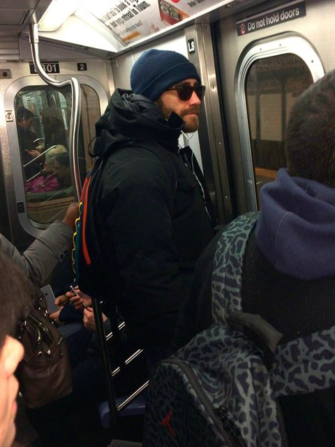 <p><p><strong>JAKE GYLLENHAAL</strong></p><p>Spotted: Jake Gyllenhaal riding the subway in sunglasses and a beanie. Surely it can be a matter of time before he graces the London Underground with his A-list presence?</p></p>