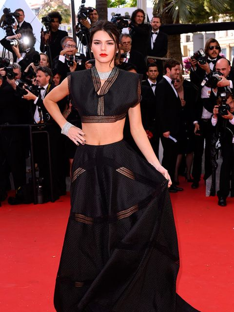 <p>Kendall Jenner in Alaïa at the Youth premiere during the Cannes Film Festival, May 2015.</p>