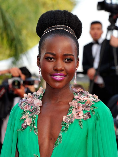 """<p>The hair, the popping pink lipstick, her defined brows... it just all works for <a href=""""http://www.elleuk.com/fashion/celebrity-style/lupita-nyong-o-style-file-actress-miu-miu-chanel-couture"""">Lupita Nyong'o</a></p>"""