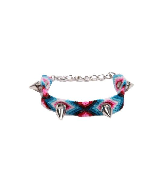 """<p>You needn't spend a fortune refreshing your look - opt for directional accessories and jewellery just like this spiked friendship bracelet… Urban Outfitters bracelet, £18</p><p><a href=""""http://shopping.elleuk.com/browse?fts=urban+outfitters+silver+spik"""