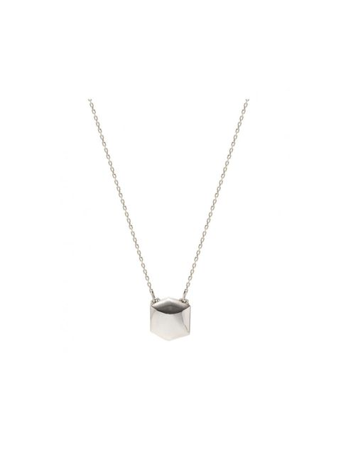 "<p>Emilie Morris silver-black square shield necklace, £370, at <a href=""http://www.kabiri.co.uk/designers/emilie-morris/silver-black-square-shield-necklace.html"">Kabiri</a></p>"