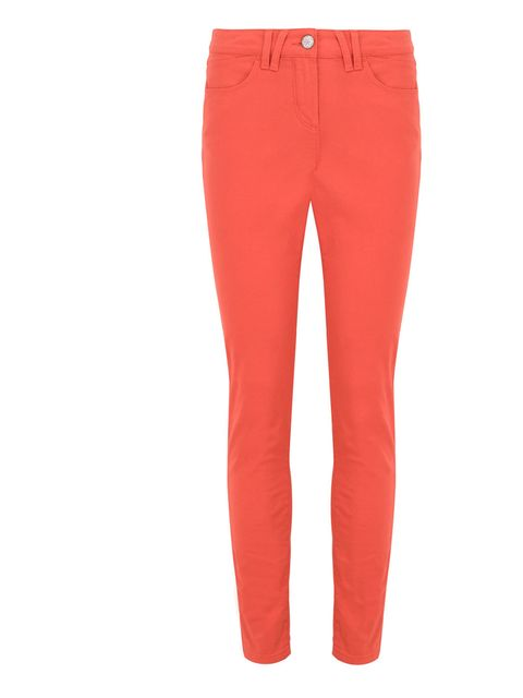 <p>Marks &amp; Spencer orange jeans, £22.50, for stockists call 0845 302 1234</p>