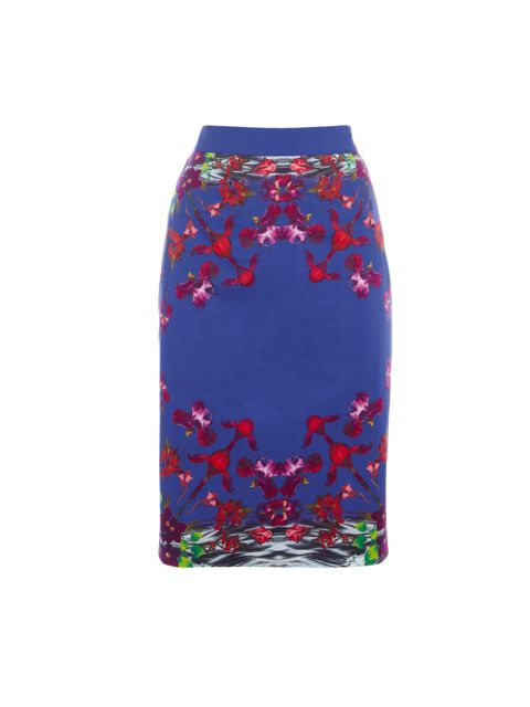 "<p><a href=""http://www.oasis-stores.com/Kaleidoscope-Floral-Print-Pencil-Skirt/Skirts/oasis/fcp-product/3440080361"">Oasis</a> floral pencil skirt, £45</p>"