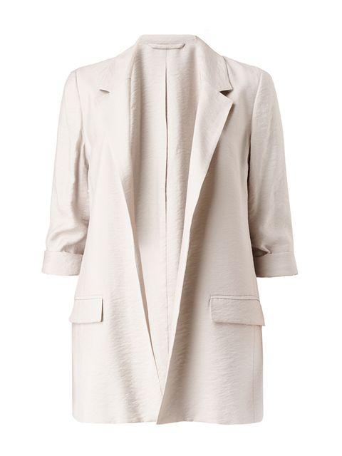 "<p><a href=""http://www.allsaints.com/women/jackets/allsaints-obel-blazer/?colour=245&amp;category=117"" target=""_blank"">AllSaints</a> blazer, &pound;198</p>"