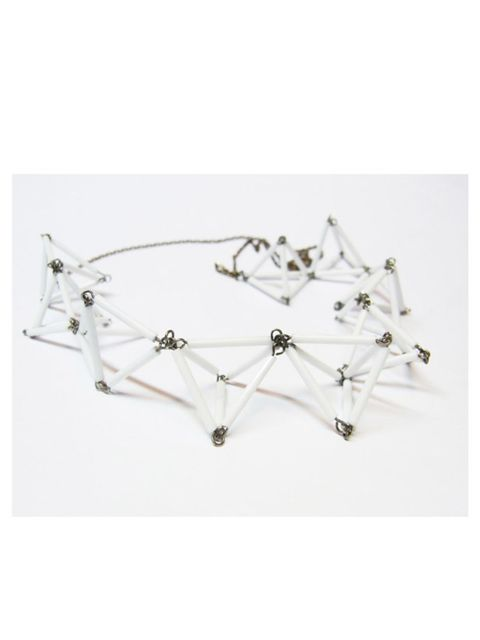 "<p>Geometric glass bead necklace, £35, by LEM_NIS_CUS at <a href=""http://shop.notjustalabel.com/accessories/1867"">NotJustALabel </a></p>"