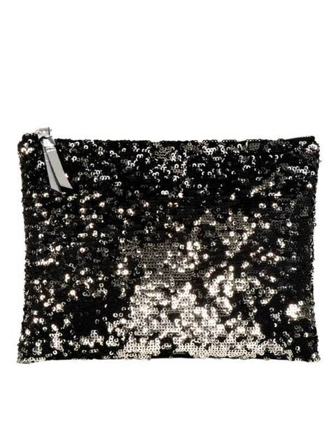 <p>Sequin clutch, £35, by COS (0207 478 0400)</p>