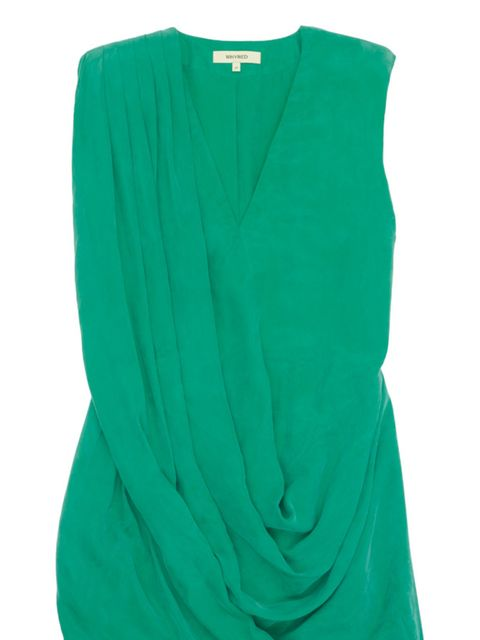 <p>Green suede dress, £132, by Whyred at Urban Outfitters (0203 219 1944) </p>