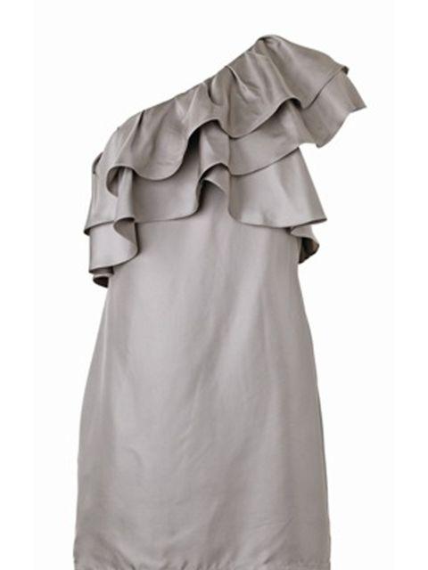 <p>Asymmetric ruffle dress, £95, by Banana Republic (0207 758 3550)</p>