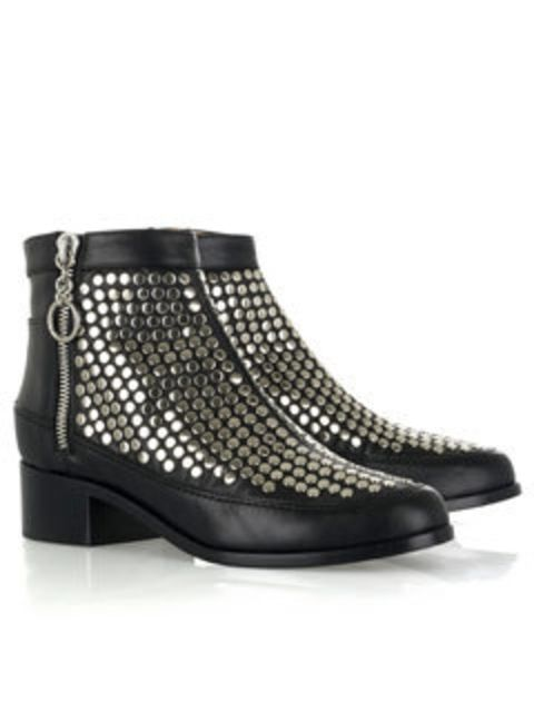 "<p>Silver studded leather boots, £700, by Proenza Schouler at <a href=""http://www.net-a-porter.com/product/48393"">Net-a-Porter</a></p>"