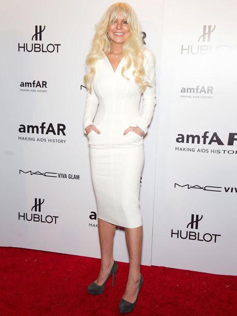 <p>Lindsay Lohan at the charity gala.</p>