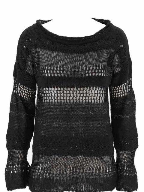 <p>Black punky jumper, £29.90, by Zara (0207 534 9500) </p>