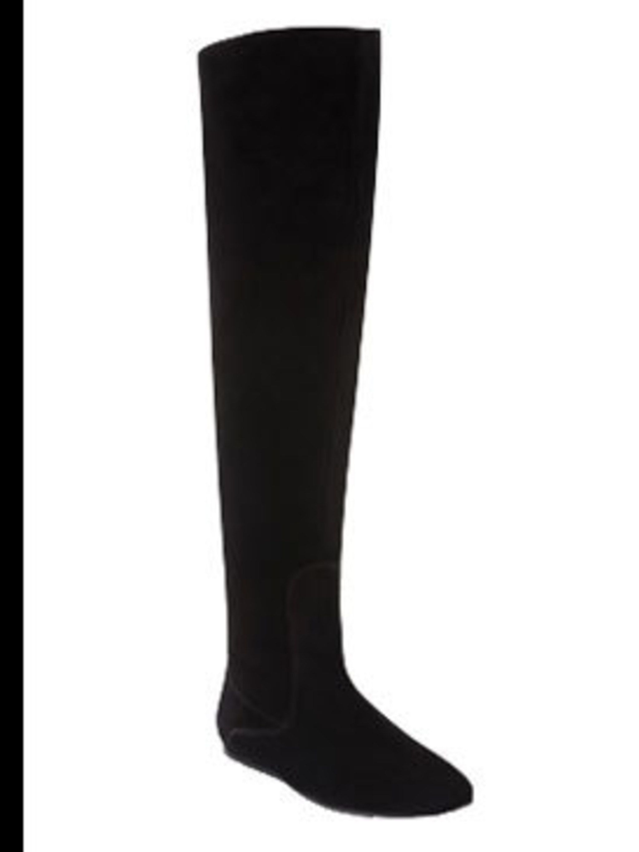 "<p>Black suede boots, £155, by <a href=""http://www.duoboots.com/products/boots/detail/calf_fitted_boots_contemporary/venice/246/colour/4-black_suede/"">Duo</a></p>"