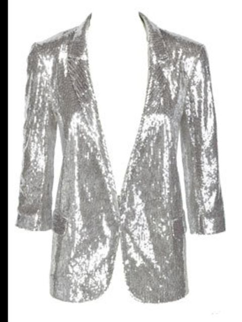 <p>Silver sequin jacket, £69.99, by River Island (0870 228 813)</p>