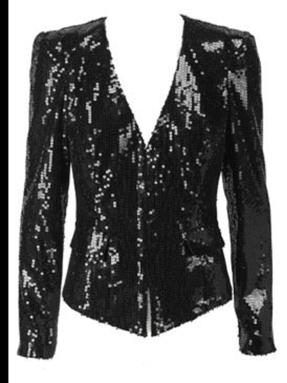 <p>Black sequin jacket, £75, by Next (0844 844 8939)</p>