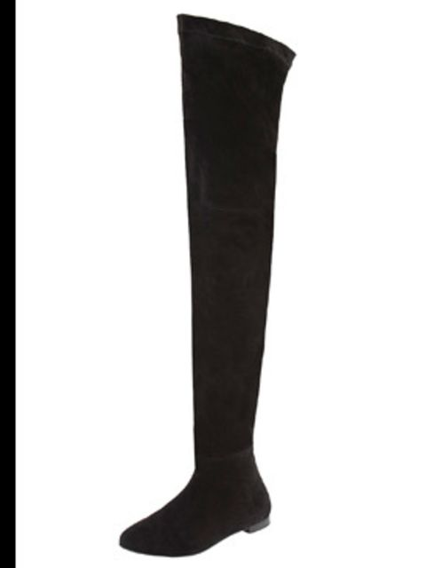 <p>Thigh high boots £69.99 by Zara</p>
