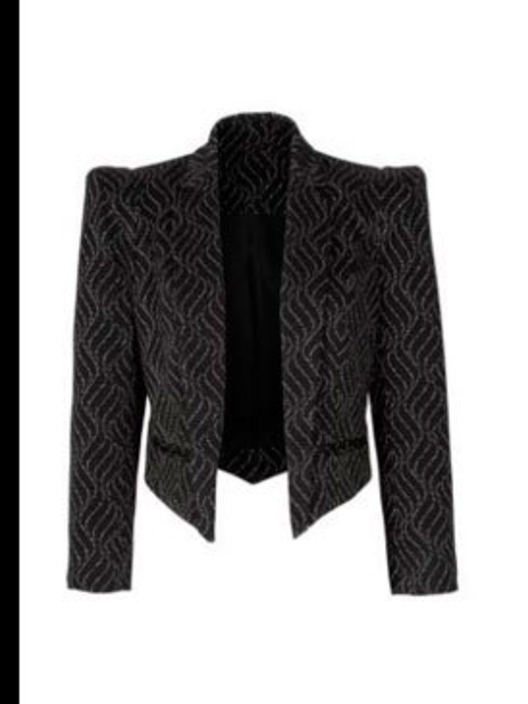 <p>Black bold shoulder jacket, £55, by Next (0844 844 8939)</p>