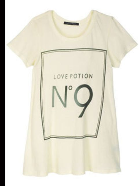 <p>Love Potion t-shirt, £62, by Wildfox (020 7725 5700)</p>