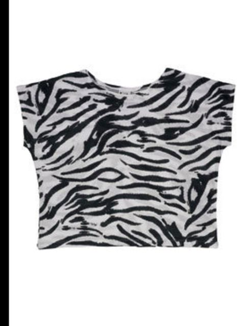 "<p>Zebra print cropped t-shirt, £28, by <a href=""www.urbanoutfitters.co.uk"">Urban Outfitters</a></p>"