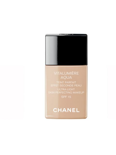 "<p><em>Suzanne Sykes, Creative Director</em></p><p><a href=""http://www.boots.com/en/CHANEL-VITALUMIERE-AQUA-Ultra-Light-Skin-Perfecting-Makeup-Instant-Natural-Radiance-SPF-15_1160210/"">Chanel Vitalumiere Aqua Ultra-Light Skin Perfecting Makeup Instant Nat"