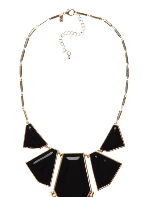 <p>Deco style necklace, £14 (was £28), by French Connection (0207 036 7200)</p>