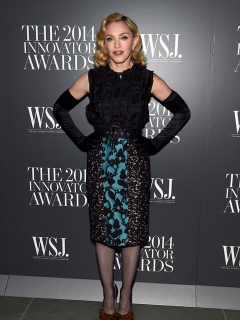 Madonna attends WSJ Innovator of the Year Awards in New York, November 2014.