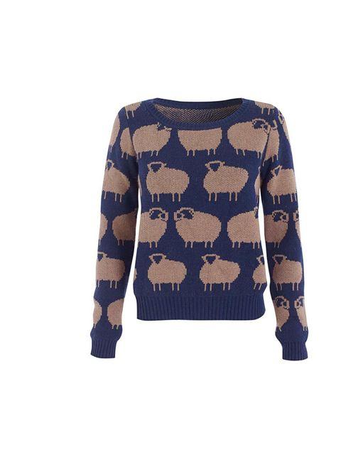 "<p>H! by Henry Holland sheep print jumper, £38, at <a href=""http://www.debenhams.com/webapp/wcs/stores/servlet/Navigate?ps=&storeId=10001&catalogId=10001&x=0&y=0&txt=holland"">Debenhams </a></p>"