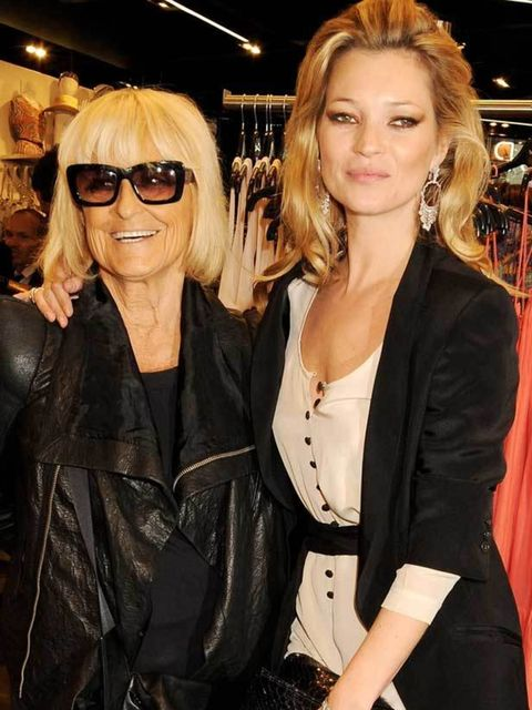 <p>Barbara Hulanicki and Kate Moss </p>