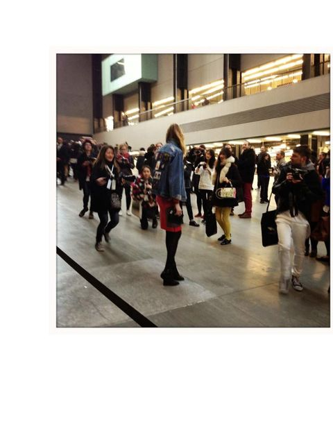 <p>One of the press pack getting snapped by bloggers at the Topshop Unique show </p>