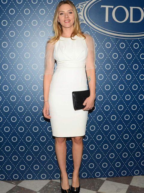 <p>Scarlett Johansson, Tod's party, Paris</p>