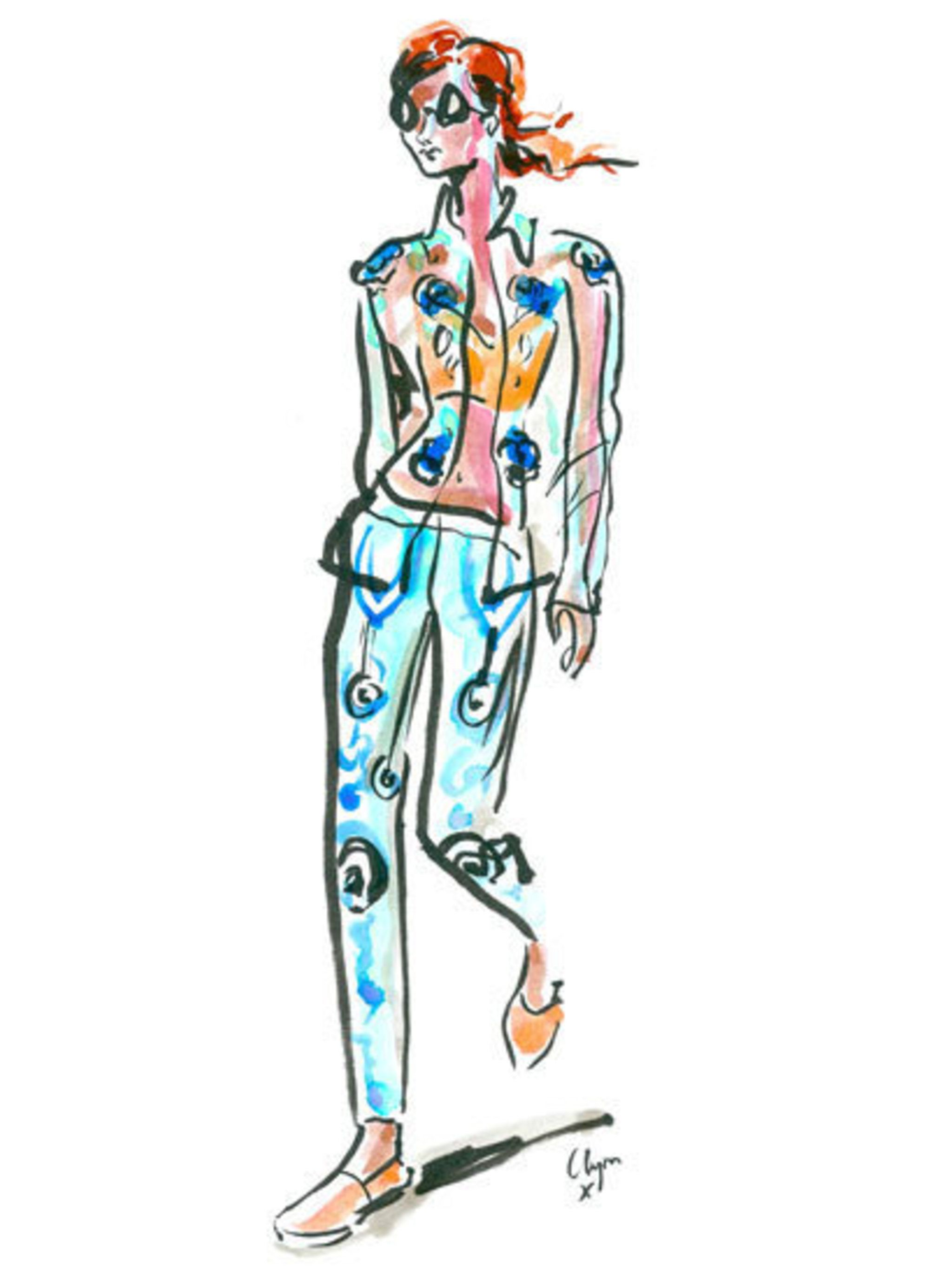 <p>Holly Fulton spring summer 2013 as illustrated by Clym Evernden</p>